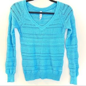 Aeropostale Turquoise Knit Sweater - Size Medium